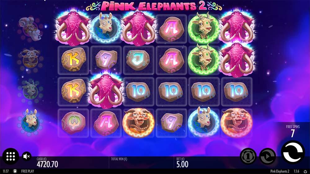 Pink Elephants 2 Slot - Free Spins Start