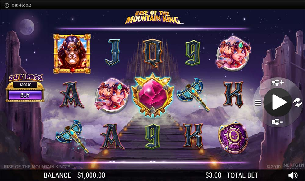 Rise of the Mountain King Slot - Base Game