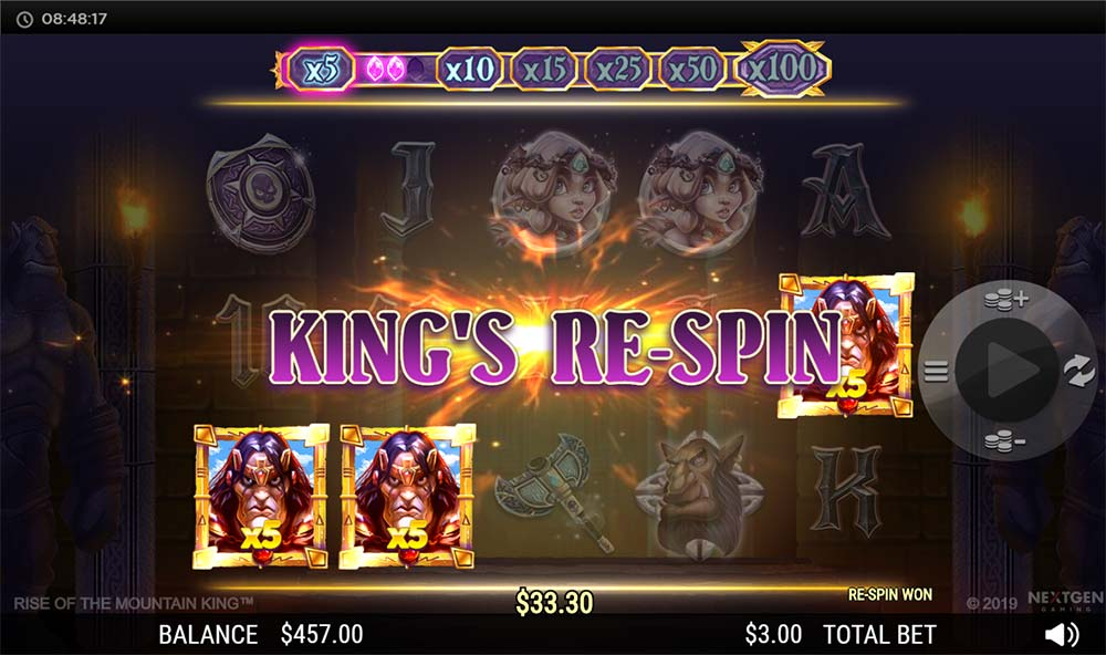 Rise of the Mountain King Slot - King's Re-Spin