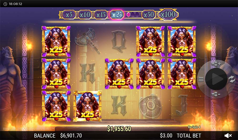 Rise of the Mountain King Slot - 25x Multipliers