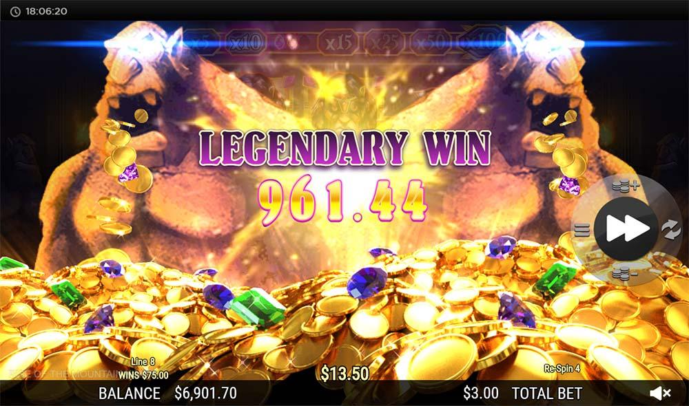 Rise of the Mountain King Slot - Legendary Win