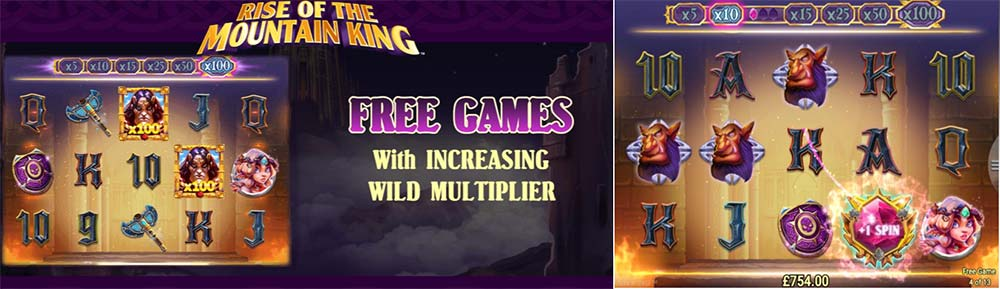 Rise of the Mountain King Slot - Free Spins