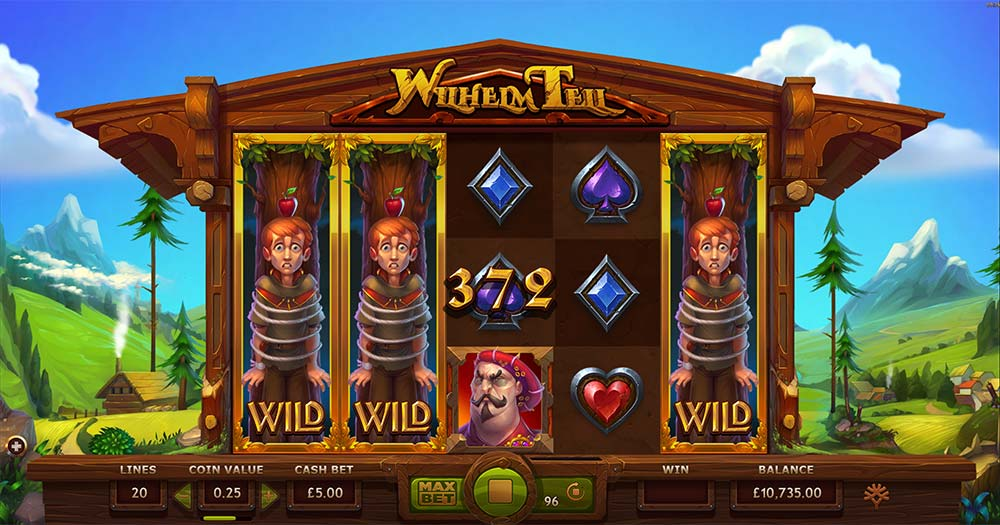 Wilhelm Tell Slot - Nudging Wild Reels