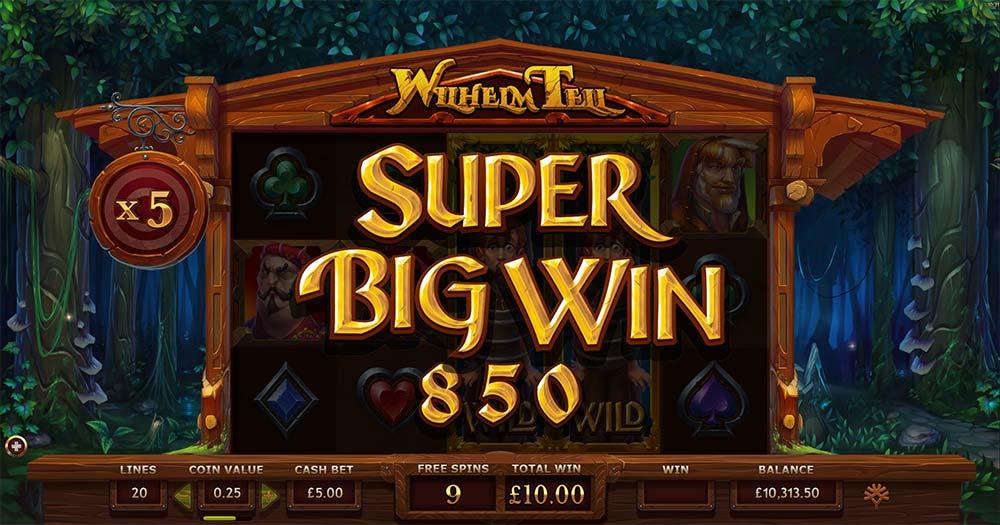 Wilhelm Tell Slot - Super Big Win