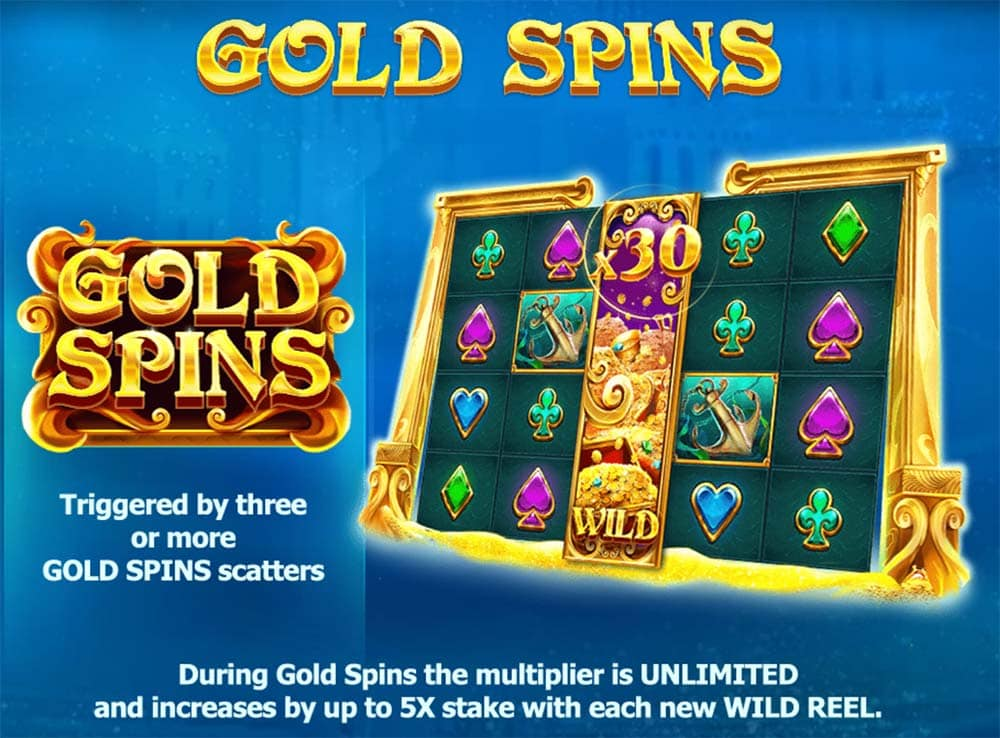 Atlantis Slot - Gold Spins