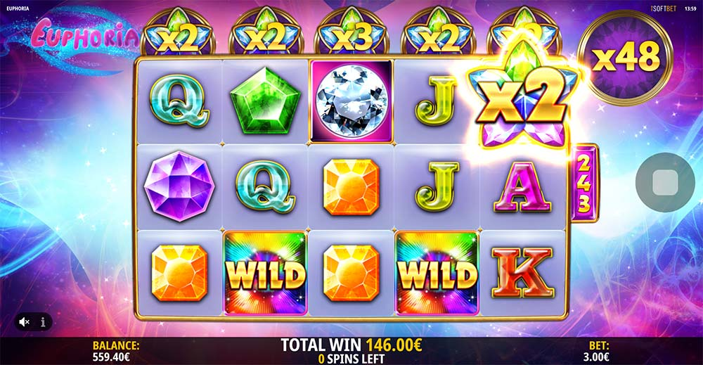 Euphoria Slot - Multipliers