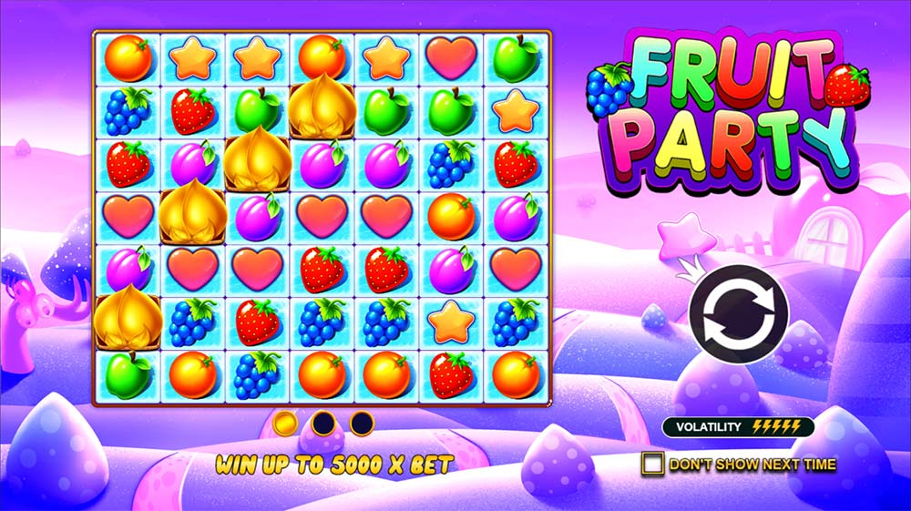 Fruit Party Slot - Intro Screen