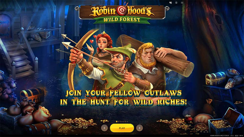 Robin Hoods Wild Forest Slot - Intro Screen