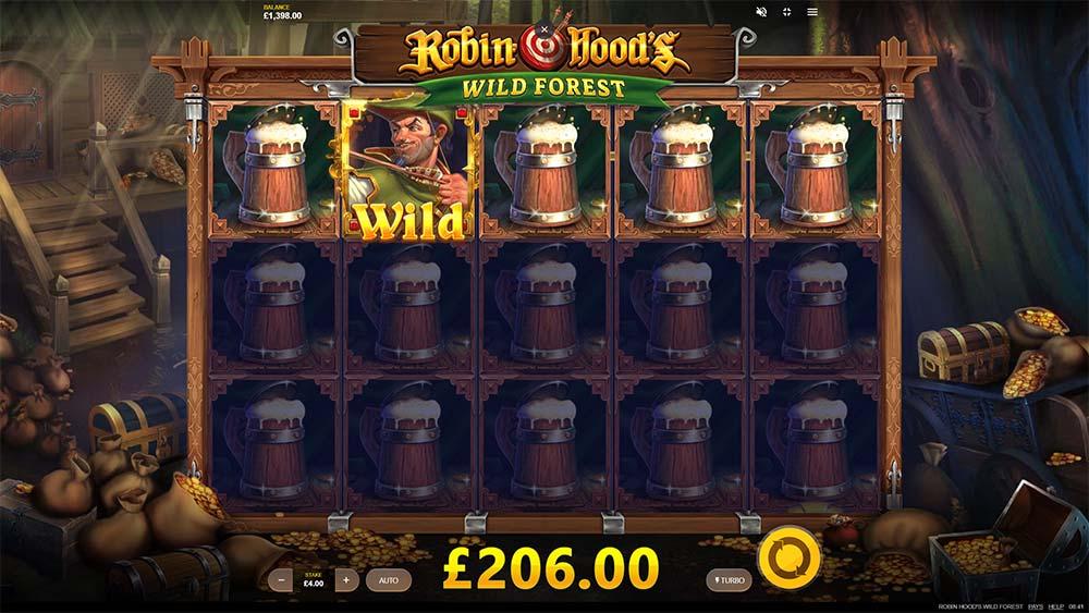 Robin Hoods Wild Forest Slot - Locked Symbol Respins