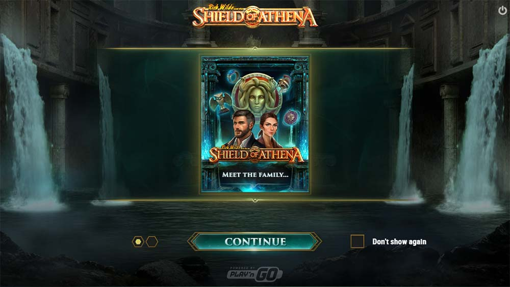 Shield of Athena Slot - Intro Screen