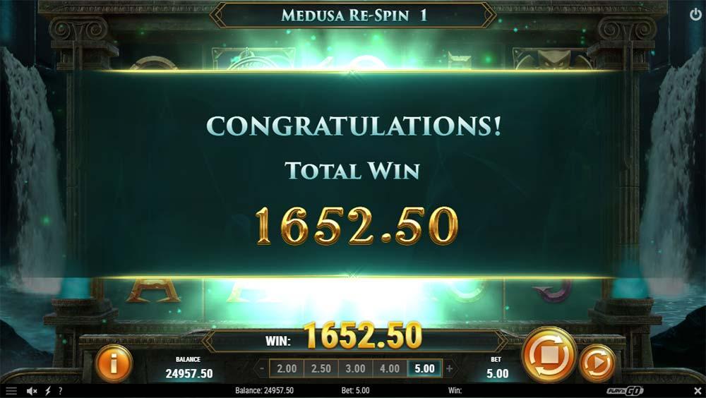 Shield of Athena Slot - Bonus End