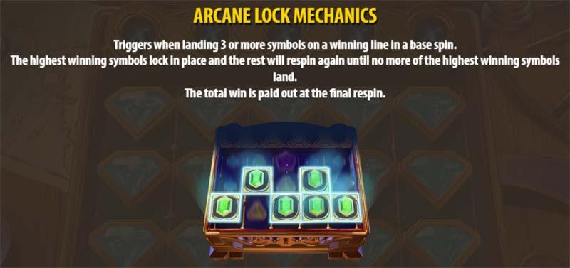 Arcane Gems Slot - Arcane Lock Mechanic