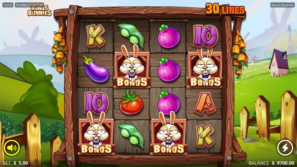 Bonus Bunnies Slot - Bonus Trigger