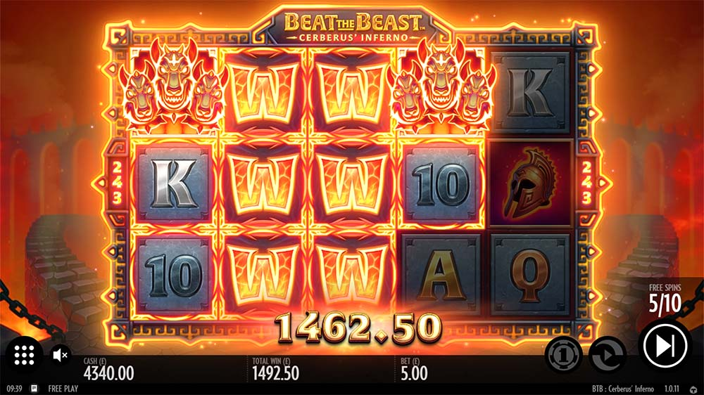 Beat the Beast Cerberus Inferno Slot - Big Win
