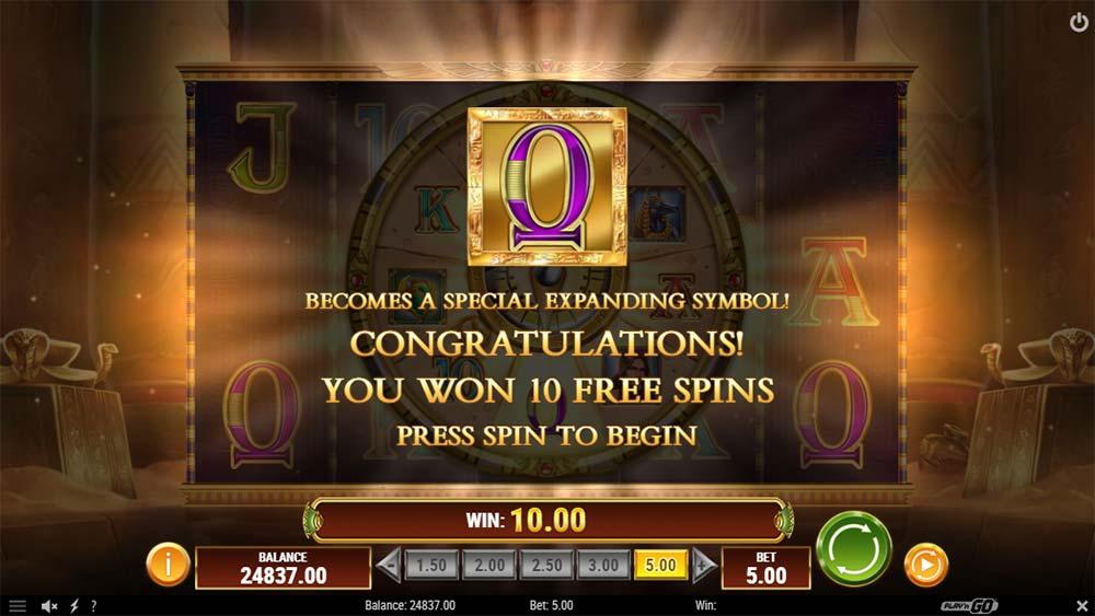 Doom of Dead Slot - Free Spins Triggered