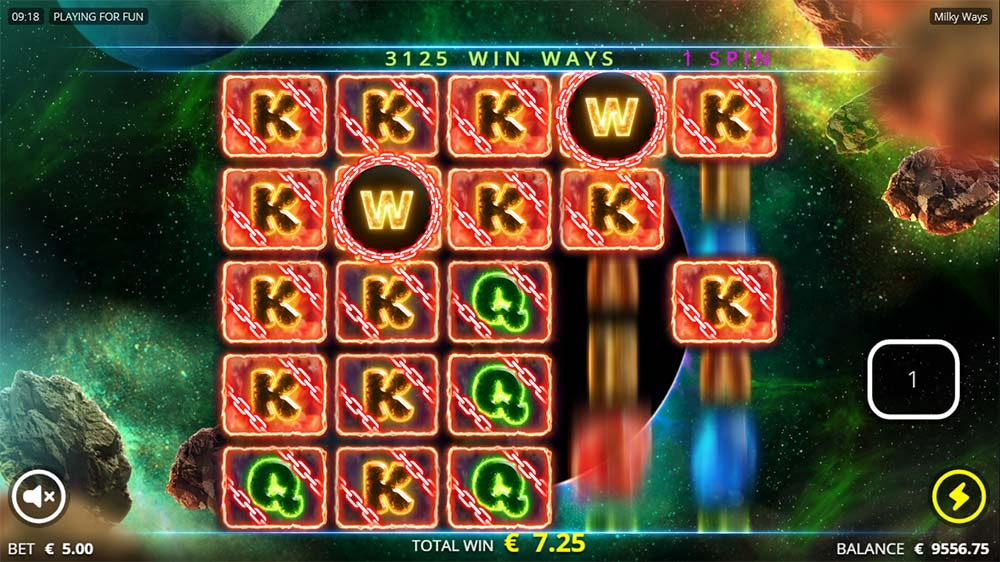 Milky Ways Slot - Respins Feature