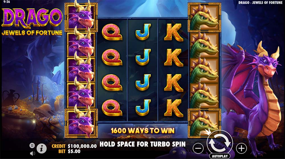 Drago Jewels of Fortune Slot - Base Game