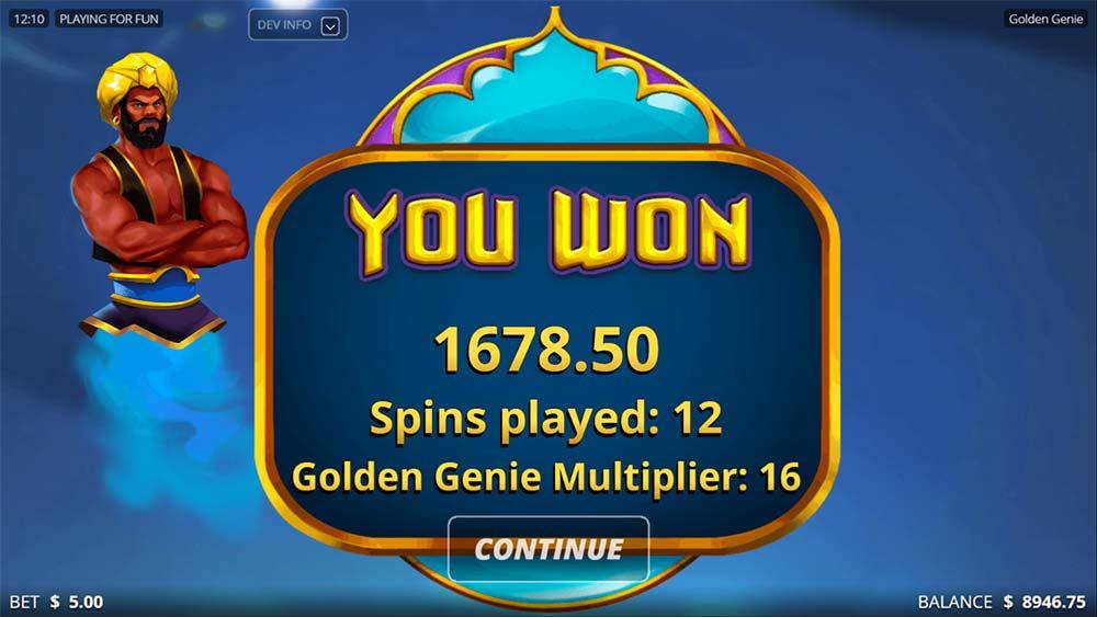 Golden Genie Slot - Bonus End