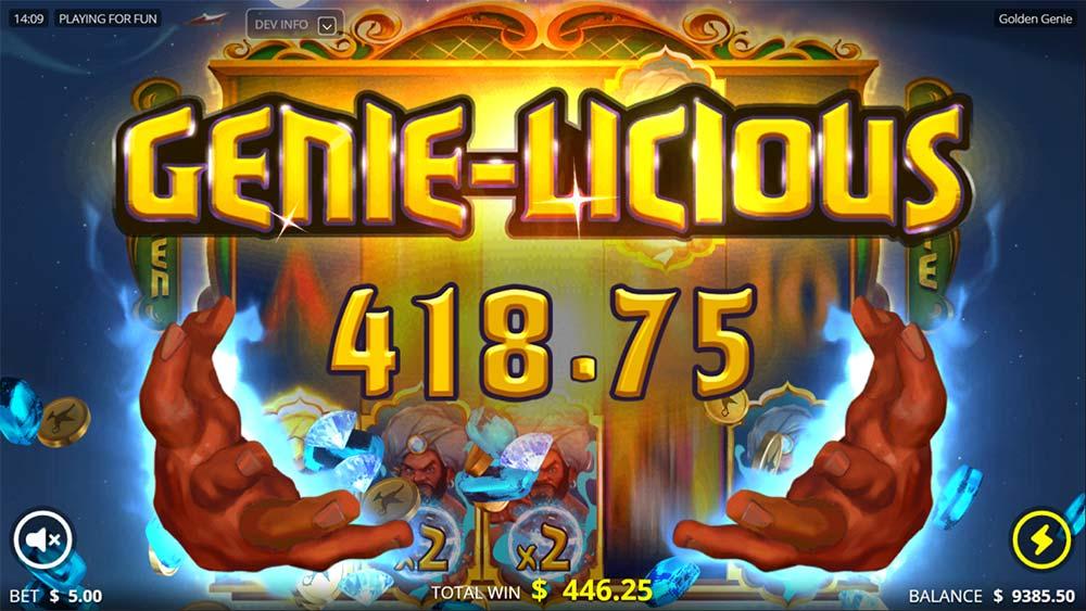 Golden Genie Slot - Big Win