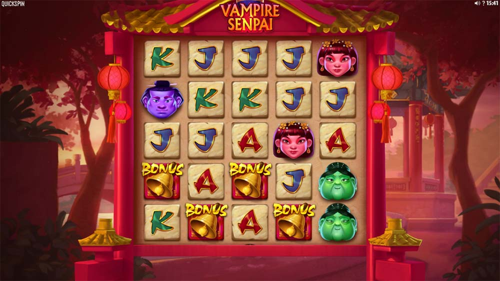 Vampire Senpai Slot - Bonus Trigger