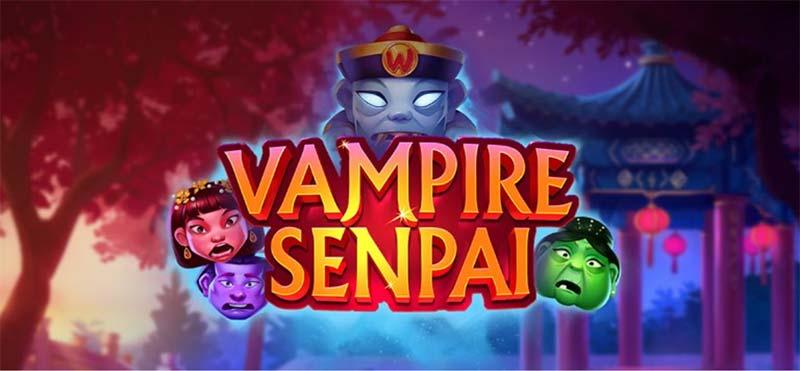 Vampire Senpai Slot Logo