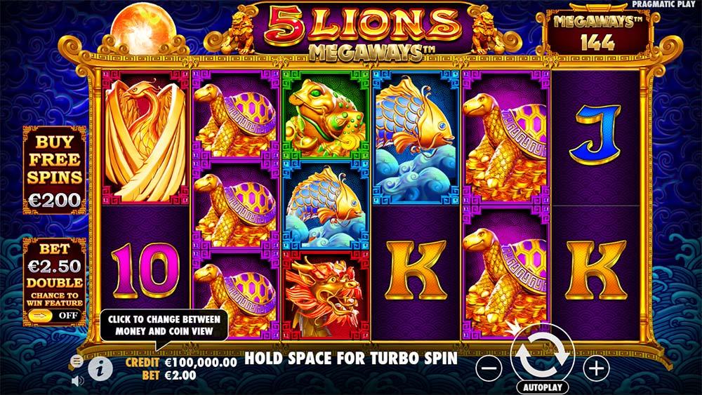 5 Lions Megaways Slot - Base Game