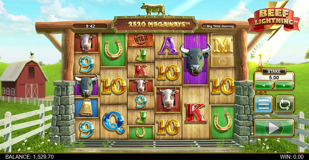 Beef Lightning Megaways Slot - Base Game