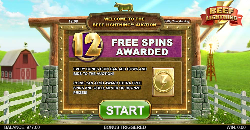 Beef Lightning Megaways Slot - Bonus Spins Start