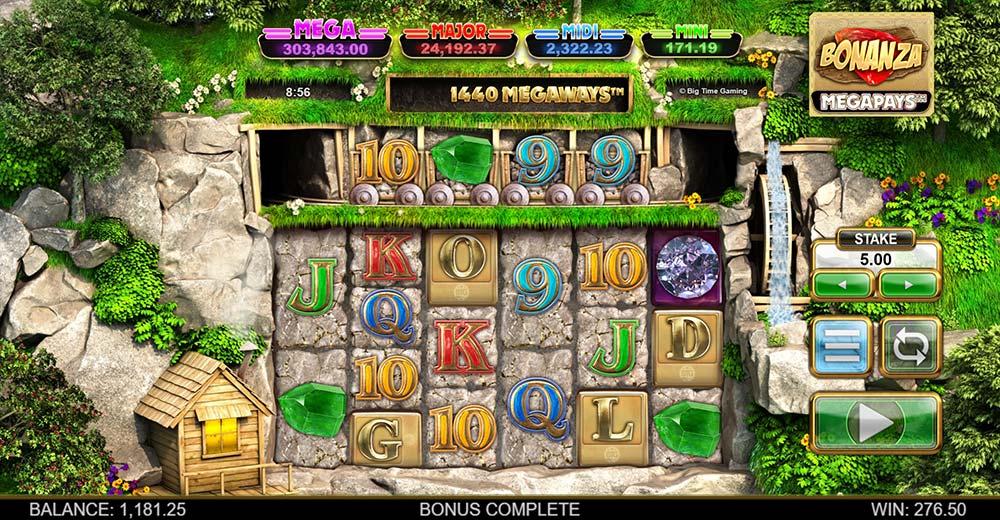 Bonanza Megapays Slot - GOLD Scatter Trigger