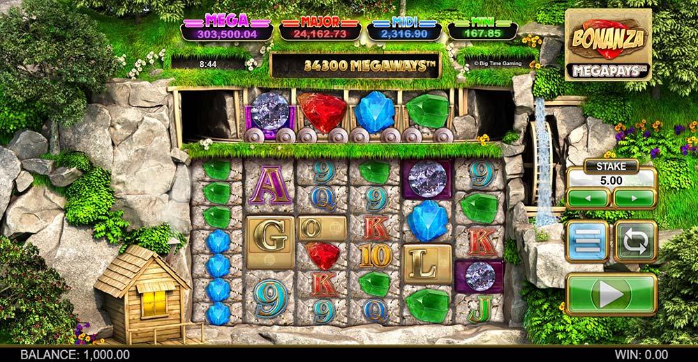 Bonanza Megapays Slot - Base Game