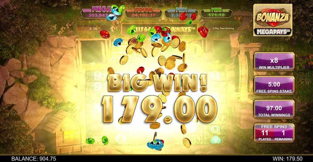 Bonanza Megapays Slot - Big Win