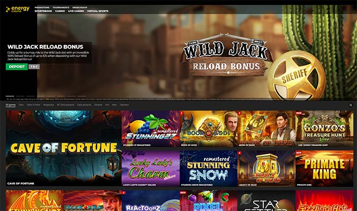 Energy Casino Home Page 2021