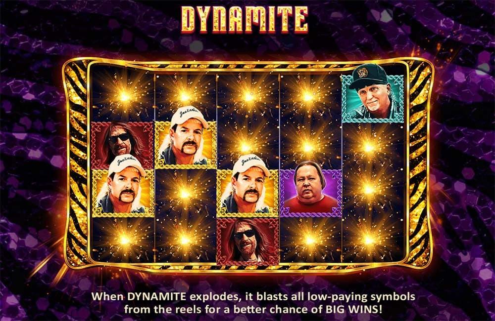Joe Exotic Slot - Dynamite Feature