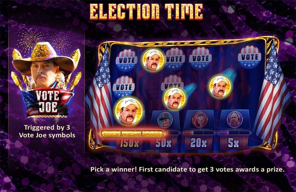 Joe Exotic Slot - Election Time Feature