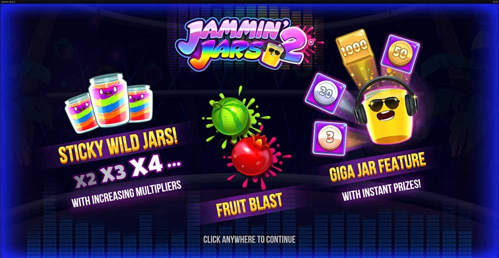 Jammin Jars 2 Slot Intro Screen