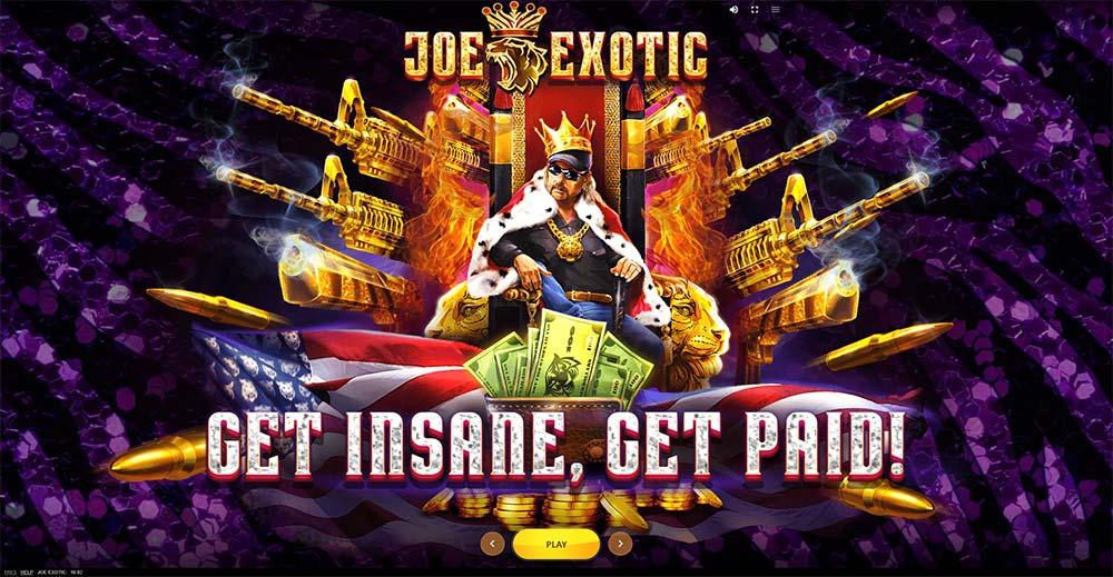 Joe Exotic Slot - Intro Screen