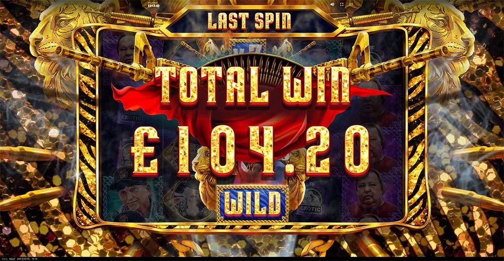 Joe Exotic Slot - Bonus Round End