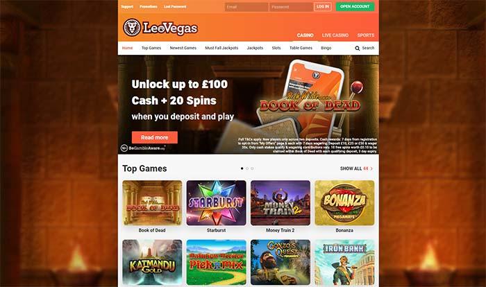 Leo Vegas Casino Home Page 2021