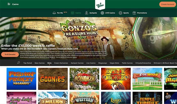 Mr Green Casino Home Page 2021