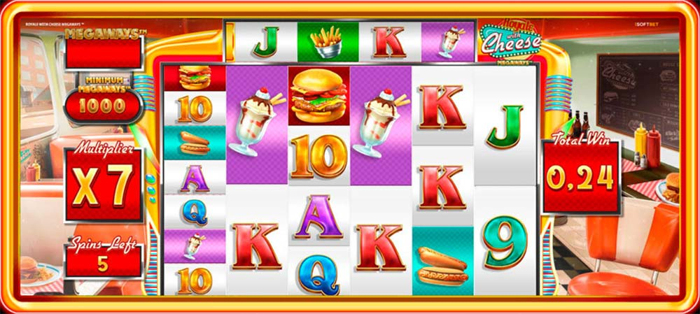 Royale with Cheese Megaways Free Spins