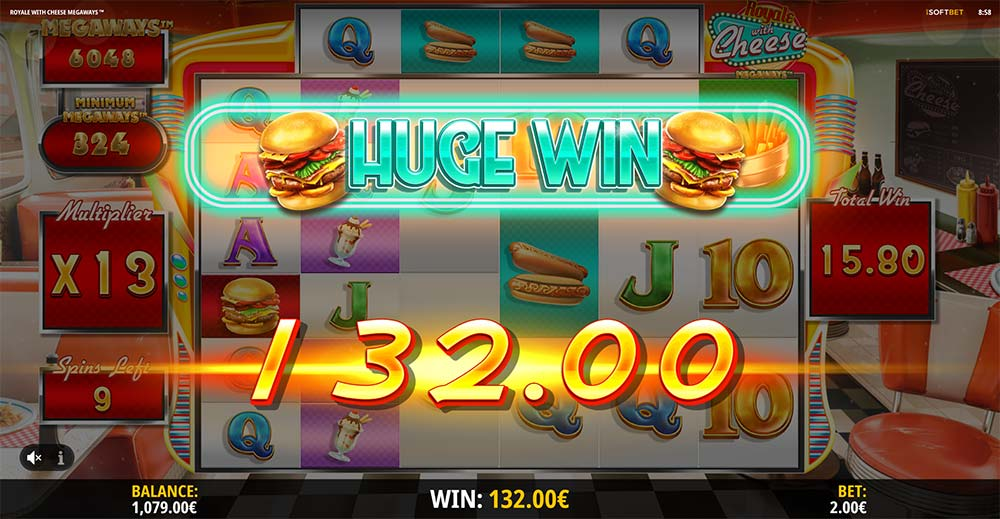 Royale with Cheese Slot - Huge Win