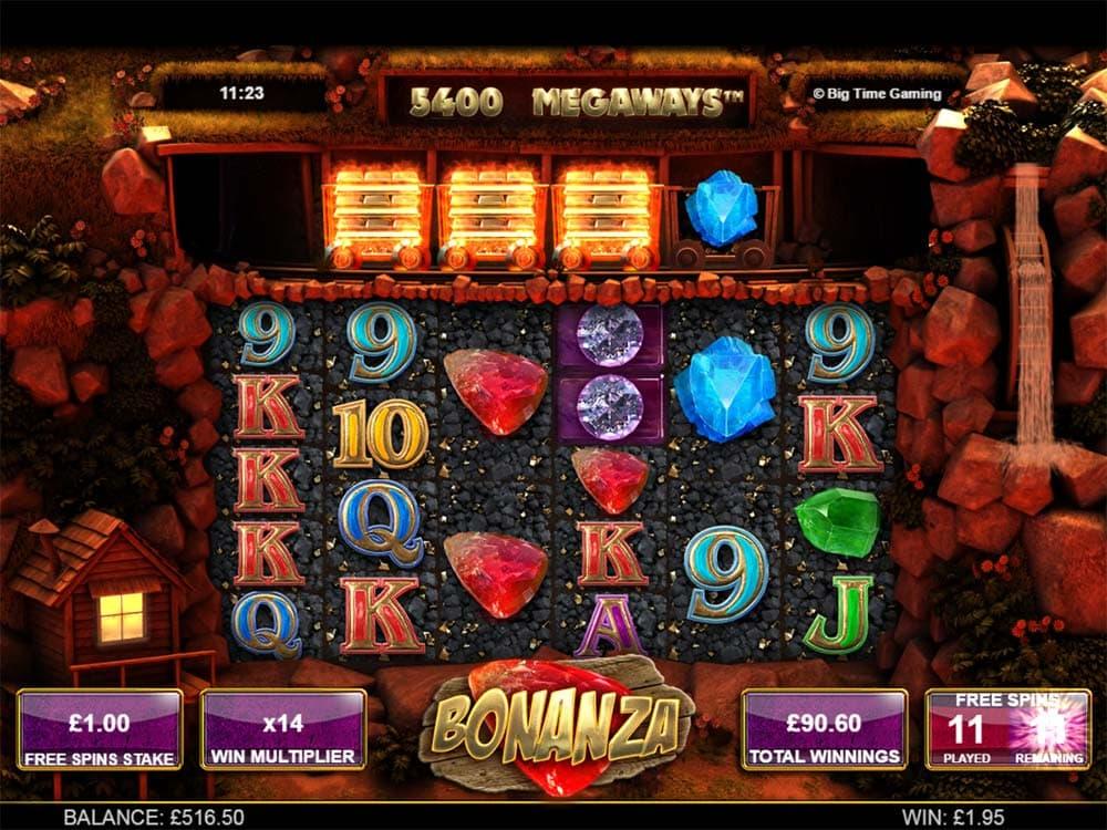 Bonanza Slot - Free Spins Re-Trigger