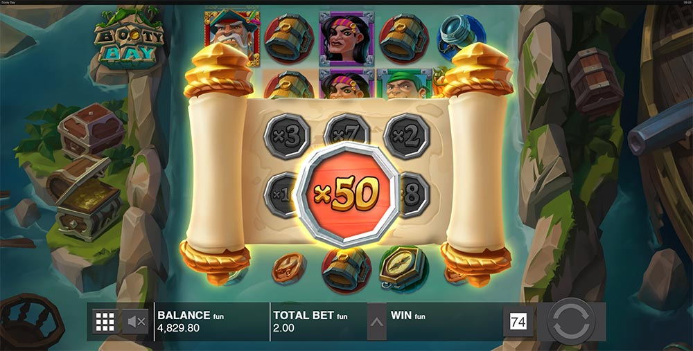 Booty Bay Slot - 50x Coin Prize