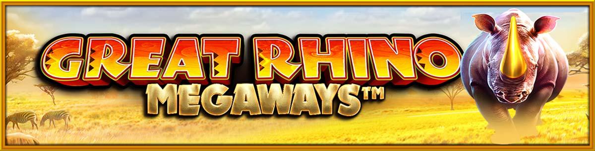 Great Rhino Megaways Slot Logo