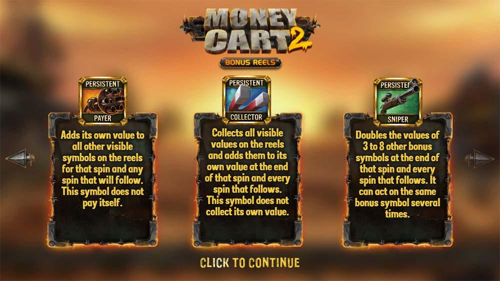 Money Cart 2 Slot - Intro Screen