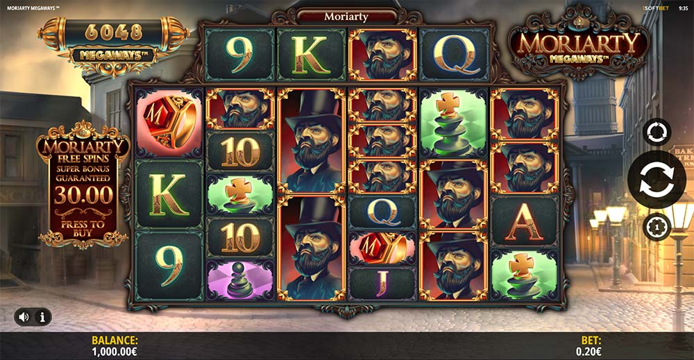 Moriarty Megaways Slot - Base Game