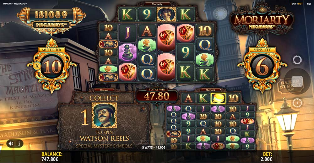 Moriarty Megaways Slot - Free Spins