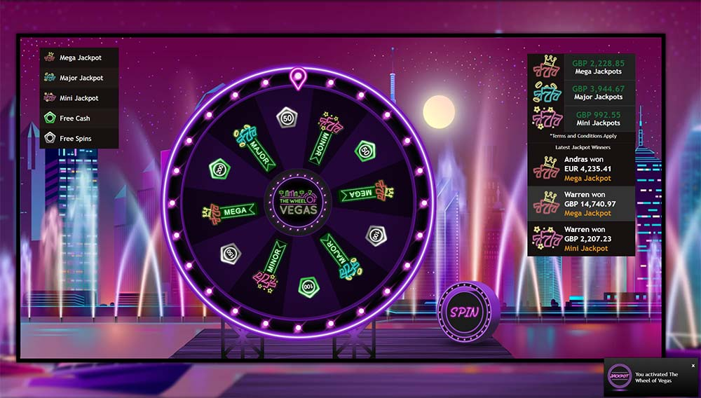 Mr Vegas Casino - Wheel of Vegas Triggered