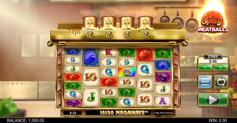 Spicy Meatballs Megaways Slot - Base Game