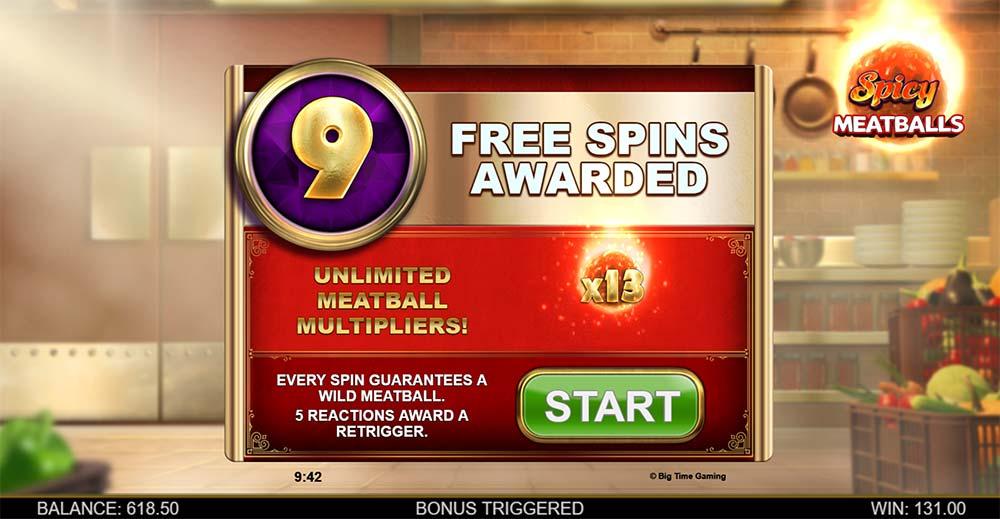 Spicy Meatballs Megaways Slot - Free Spins Start